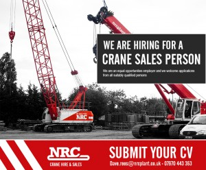 Crane sales person job advert